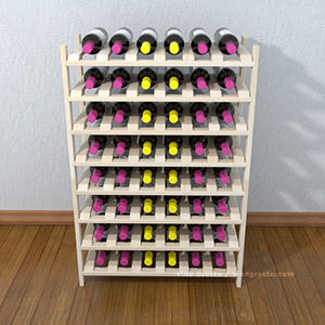 Modular stacking wine shelves