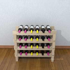 Scalloped Wine Racks
