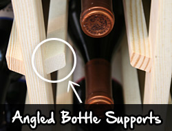 Angled Bottle Supports