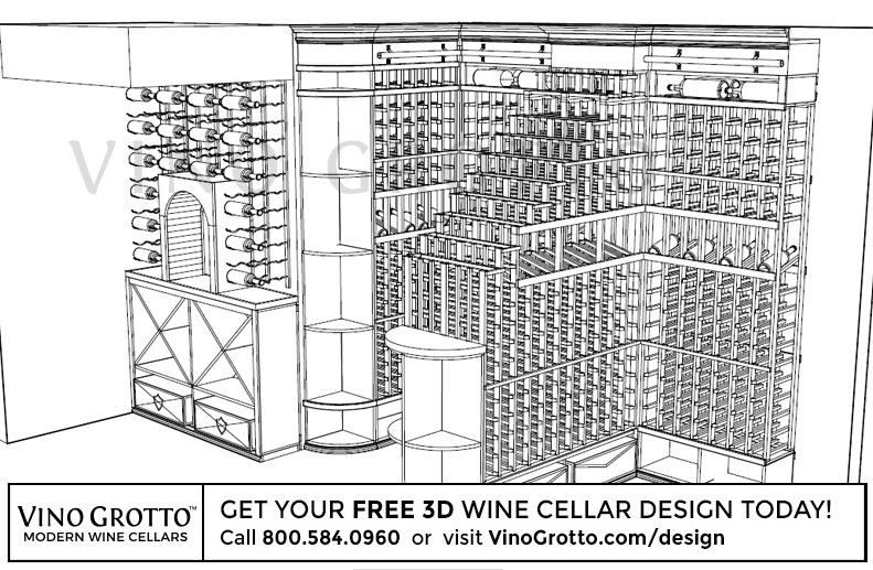 Custom wine racks and wine cellars from vino grotto for Wine cellar floor plans