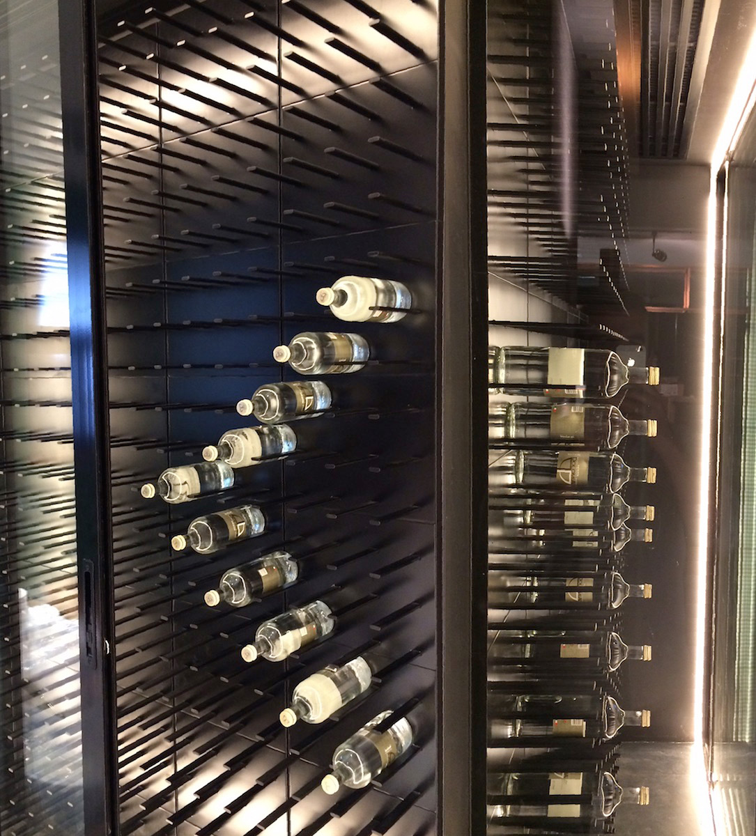 Glass enclosed wine cellar - An Error Occurred