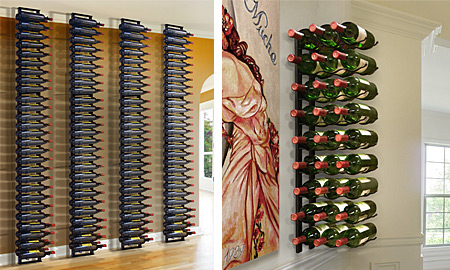 Wine Bottle Wall Rack Wall Mounted Metal Wine Racks