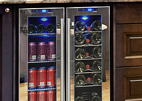 Mirrored Series Wine Coolers by Vinotemp