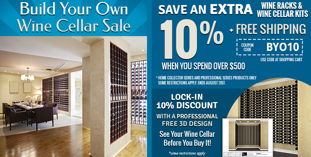 Build Your Own Wine Cellar Sale - Save extra 10% + free shipping