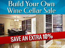 Build Your Own Cellar Sale - Save an extra 10% on wine cellar kits + free shipping