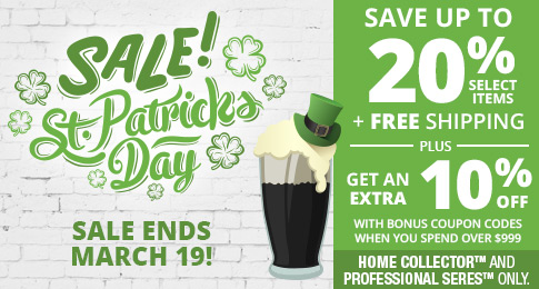 St Patricks Day  Sale - Save up to 20% + free shipping on Home Collector Wine Racks