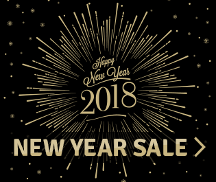2018 New Year Sale - Save up to 15% + Free Shipping