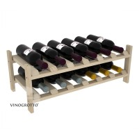12 Bottle Modular Wine Shelf - Pine Showcase
