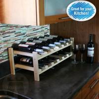 12 Bottle Modular Shelf - Pine Lifestyle