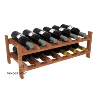 12 Bottle Modular Shelf - Redwood Showcase