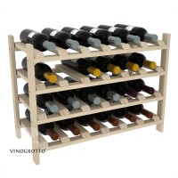 24 Bottle Modular Shelf - Pine Showcase
