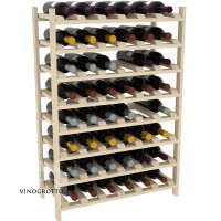 48 Bottle Modular Shelf - Pine Showcase