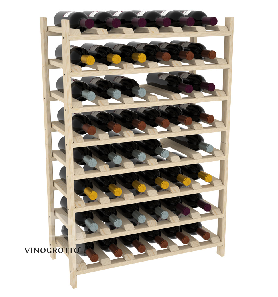 48 Bottle Modular Shelf - Pine Showcase