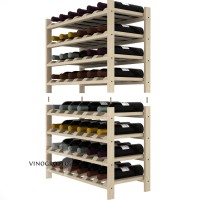 48 Bottle Modular Shelf - Pine