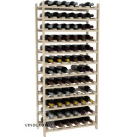 72 Bottle Modular Shelf - Pine Showcase