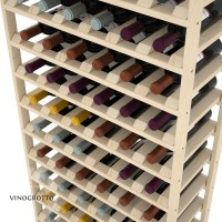 72 Bottle Modular Shelf - Pine Detail