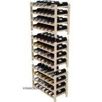 72 Bottle Modular Shelf - Pine Detail