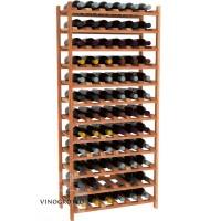 72 Bottle Modular Shelf - Redwood Showcase