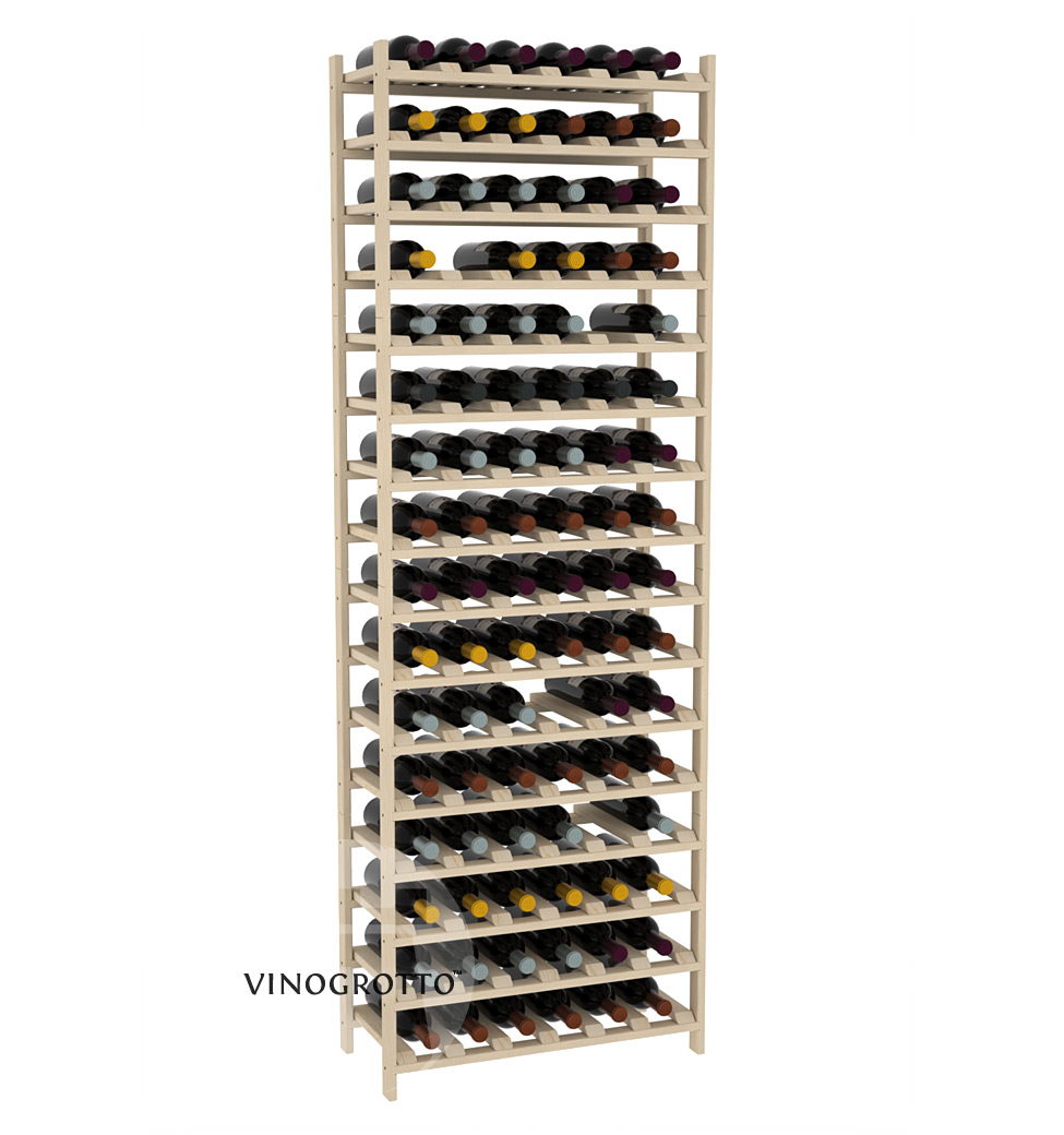96 Bottle Modular Shelf - Pine Showcase