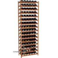 96 Bottle Modular Shelf - Redwood Showcase