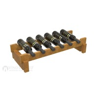 Vino Grotto 6 Bottle Short Scalloped Wine Rack - Pine Oak-Stain Showcase
