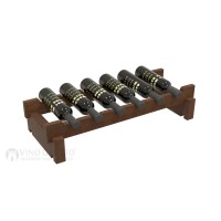 Vino Grotto 6 Bottle Short Scalloped Wine Rack - Pine Walnut-Stain Showcase