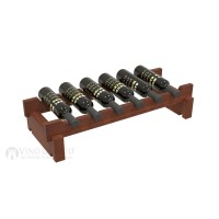 Vino Grotto 6 Bottle Short Scalloped Wine Rack - Redwood Cherry-Stain Showcase