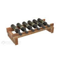 Vino Grotto 6 Bottle Short Scalloped Wine Rack - Redwood Showcase