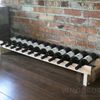 12 Bottle Long Scalloped Rack - Redwood Showcase
