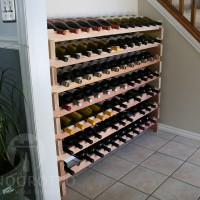 12 Bottle Long Redwood Scalloped Racks - 7 Stack