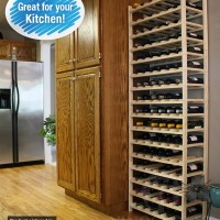96 Bottle Modular Wine Shelf - Pine