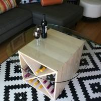 VINOGROTTO-WC-48-P - 48 Bottle Wine Cube Set - Pine