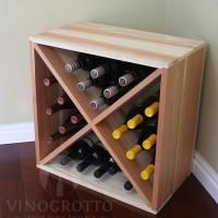 VINOGROTTO-WC-24-R - 24 Bottle Wine Cube in Premium Redwood Showcase