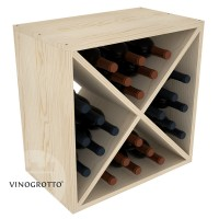 VINOGROTTO-WC-24 - 24 Bottle Wine Cube - Pine Showcase