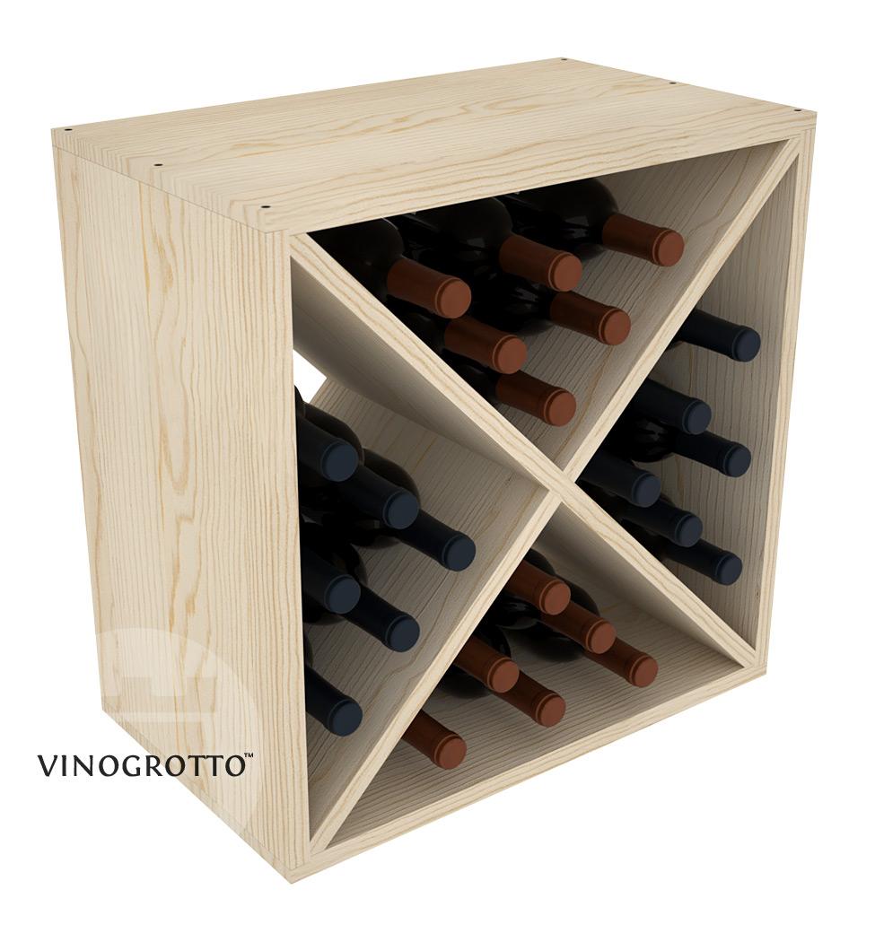 VINOGROTTO-WC-24 - 24 Bottle Wine Cube - Pine Showcase