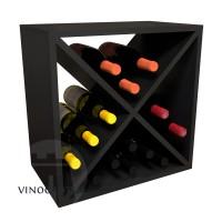24 Bottle Wine Cube - Pine Espresso Finish