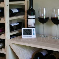 Thermometer Hygromter in use in small wine closet