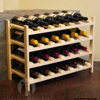 24 Bottle Modular Shelf - Pine