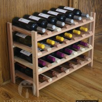 24 Bottle Wine Shelf - Redwood Showcase