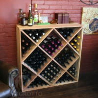 VINOGROTTO-UC-120-R - 120 Bottle Ultimate Wine Cube in Premium Redwood