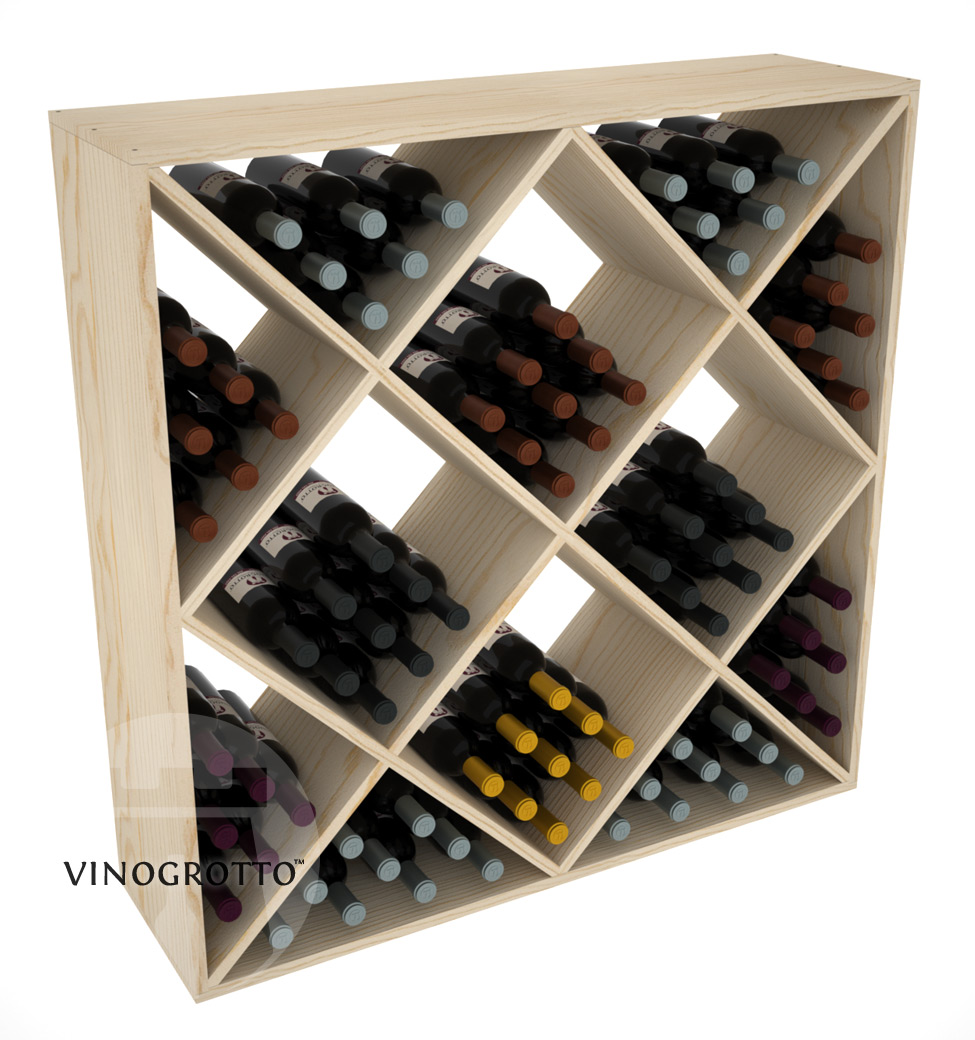 120 Bottle Ultimate Wine Cube - Pine Showcase