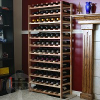 72 Bottle Modular Shelf - Redwood Lifestyle