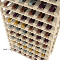 96 Bottle Modular Shelf - Pine Detail