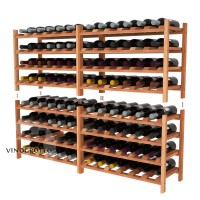 96 Bottle Modular Shelf - Redwood Detail