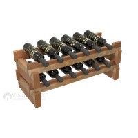 Vino Grotto 12 Bottle Short Scalloped Wine Rack Set - Redwood Showcase