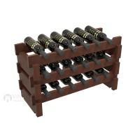 Vino Grotto 18 Bottle Short Scalloped Wine Rack - Pine Cherry-Stain Showcase