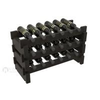 Vino Grotto 18 Bottle Short Scalloped Wine Rack - Pine Ebony-Stain Showcase