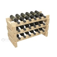 Vino Grotto 18 Bottle Short Scalloped Wine Rack - Pine Showcase