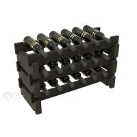 Vino Grotto 18 Bottle Short Scalloped Wine Rack - Redwood Ebony-Stain Showcase