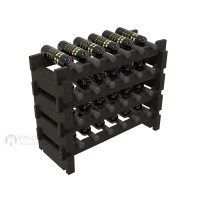 Vino Grotto 24 Bottle Short Scalloped Wine Rack Set - Pine Ebony-Stain Showcase
